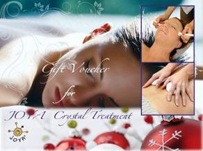 JOYA Crystal Massage Gift Voucher Christmas